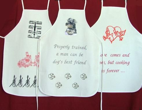 Machine Embroidery Projects Embroidery Designs Funny Aprons For