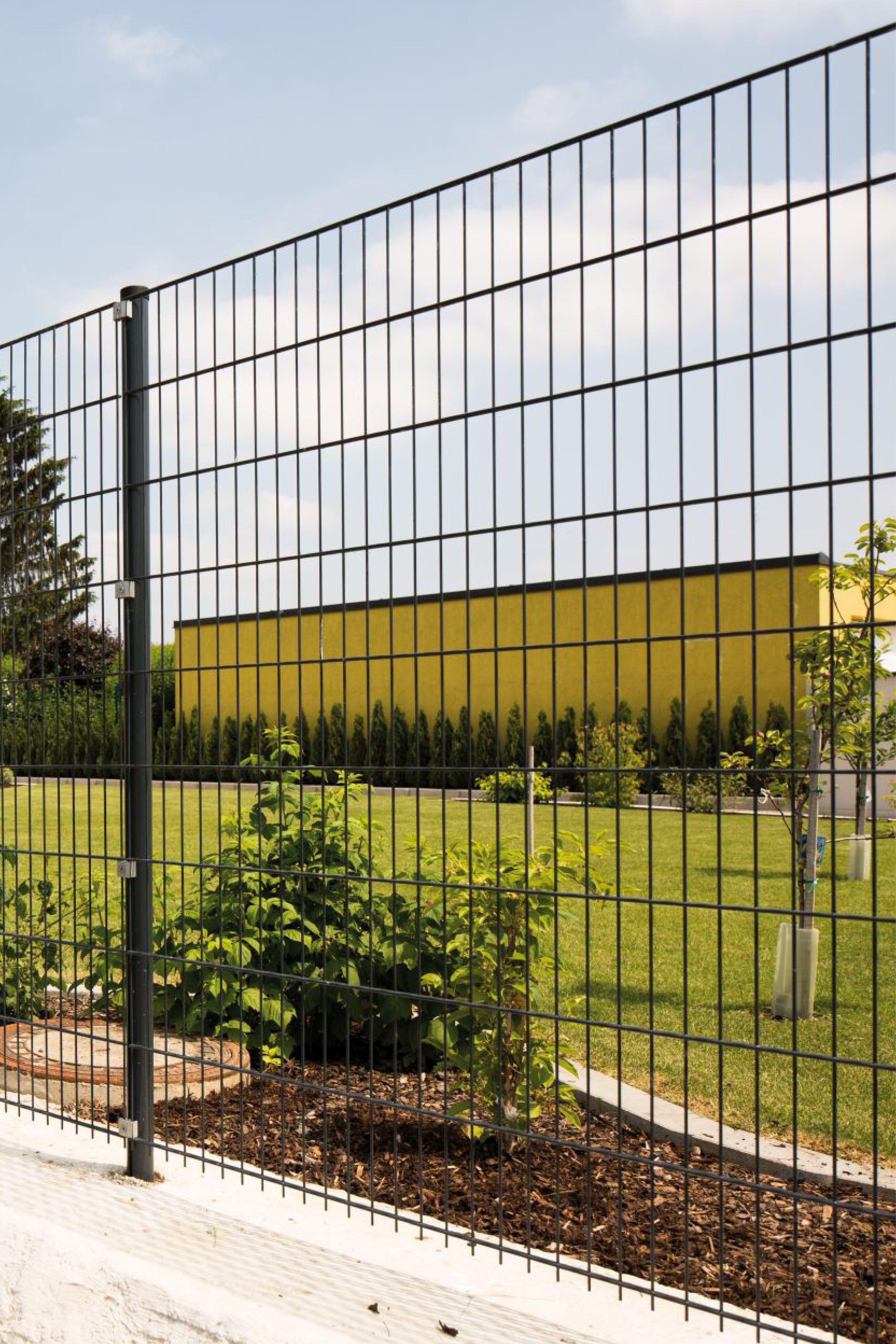 Zaunidee Einfacher Aufbau Doppelstabmatte In 2020 Doppelstabmattenzaun Zaun Zaun Ideen