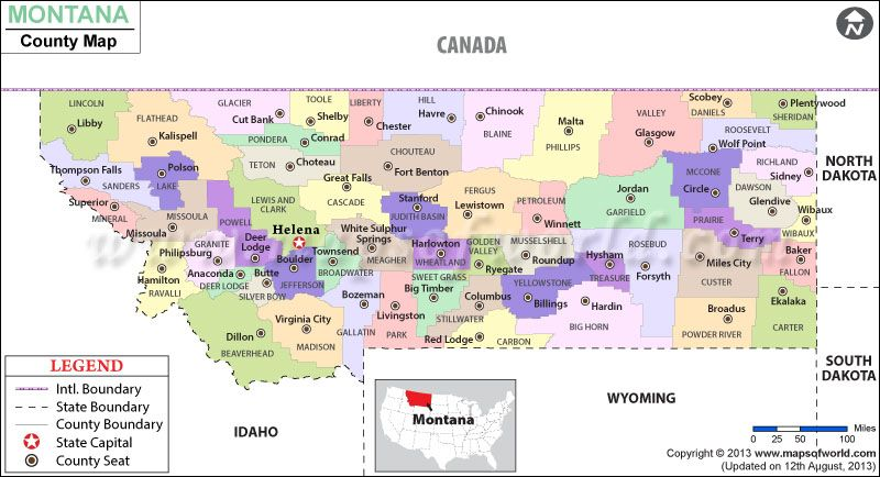 Montana County Map USA Maps Pinterest Montana County Seat - Montana county map