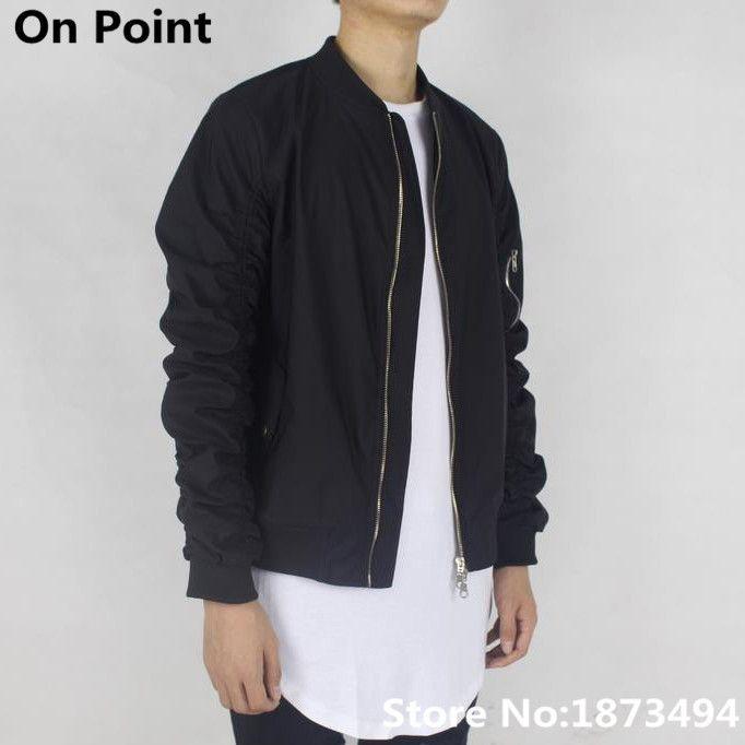 Cheap 2015 ropa urbana swag hiphop hombre negro chaqueta de bombardero de  vuelo chaquetas de béisbol hombres kanye west monopatín fuera blanco de  talla ... 30968c12f527a