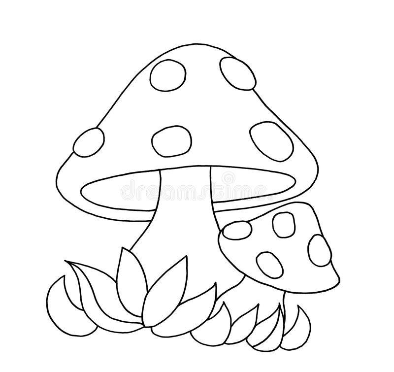Download Black And White Mushrooms Stock Illustration Image 12505448 Aplike Sablonlari Boyama Sayfalari Nakis Desenleri