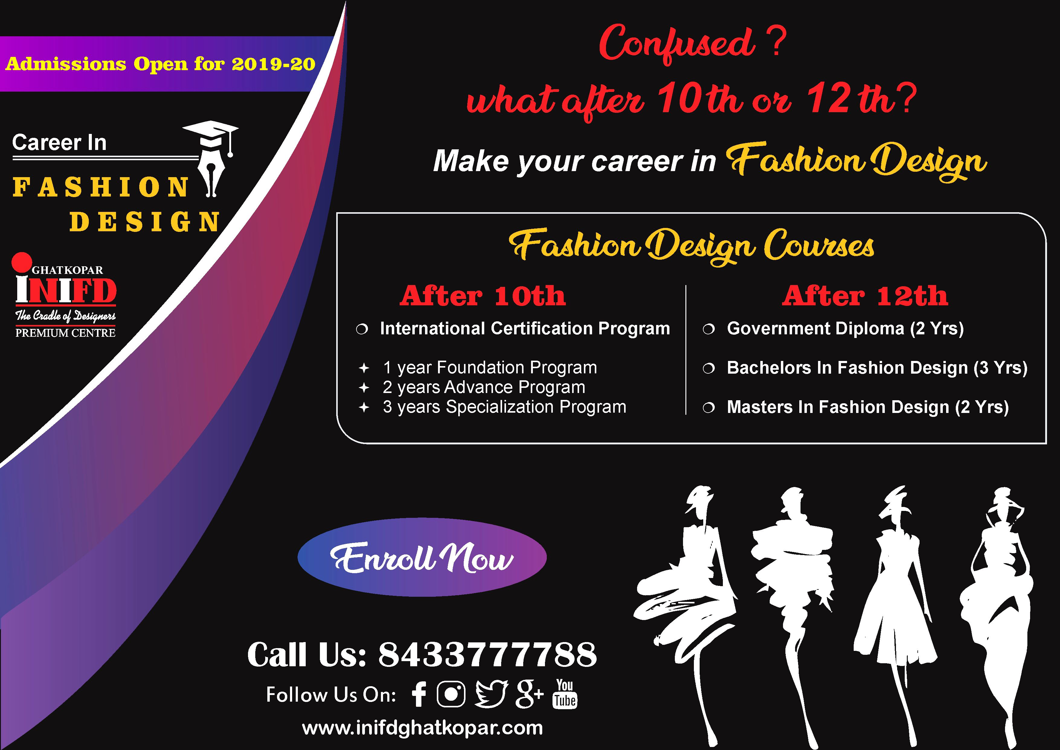 Are You Still Confused About What To Do After Your 10th Or 12th Exams Don T Get So Confused We Are Alway Career In Fashion Designing 12th Exam Design Course