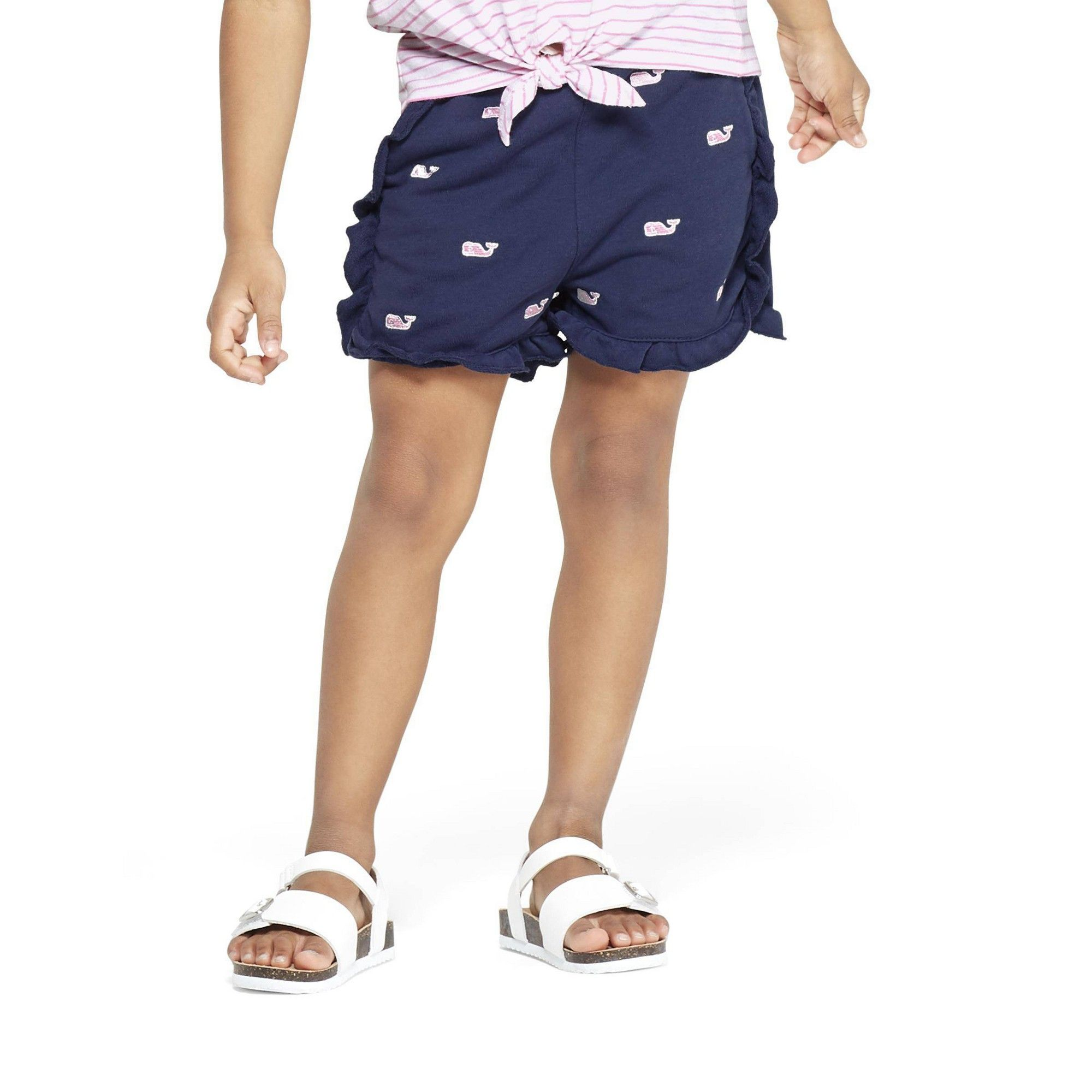Vineyard Vines For Target Toddler Girls Embroidered Whale Navy Shorts