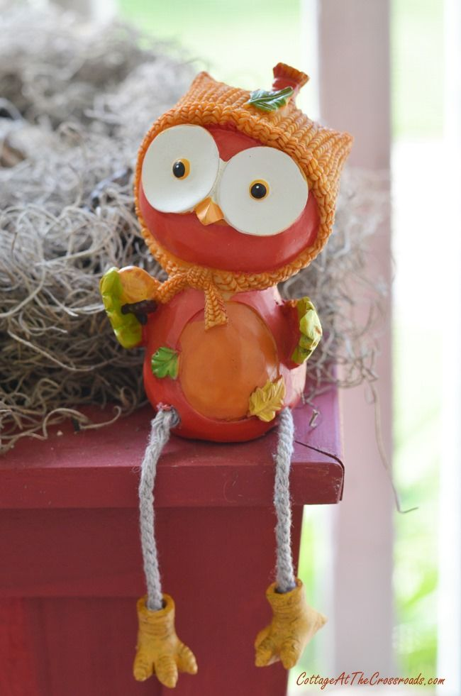 cute owl from the dollar store   Cottage at the Crossroads