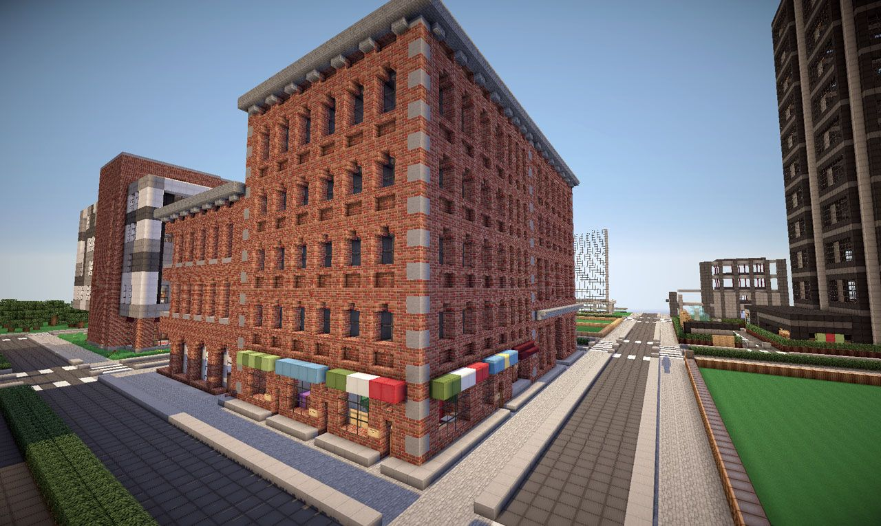 Modern Apartment Building Minecraft new york brick buildings on world of keralis minecraft project