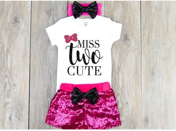 2 Year Old Birthday Outfit Toddler Clothing Personalized 2nd Girl