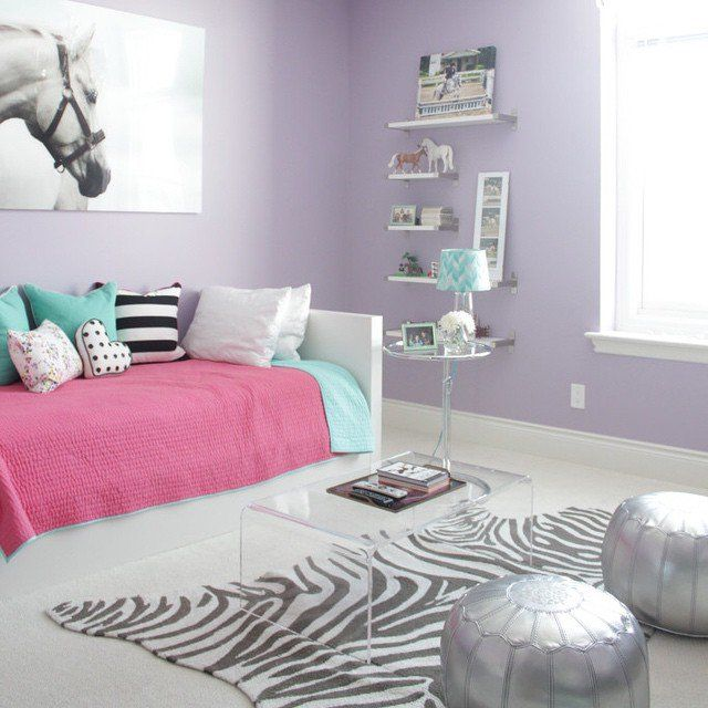 "Little Girl Bedroom Color Ideas: Make Your Tween's Room A Little More Accessible For ""grown"