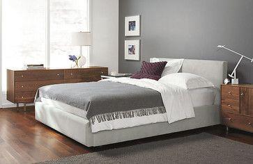 Wyatt Low Headboard Storage Bed By Room Board Modern Bedroom