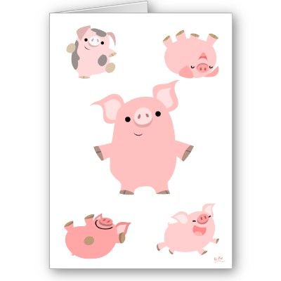 Inspired by a book call The Pig of Happiness. These are my thank you cards!
