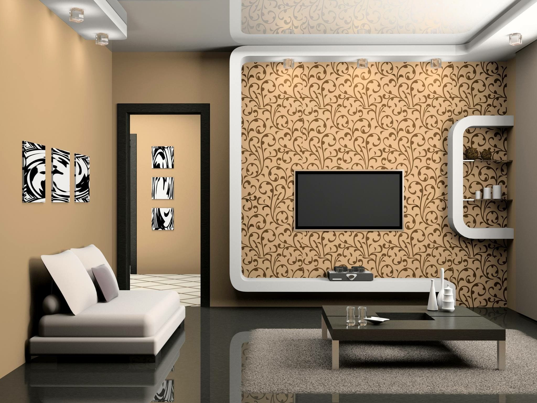 Pin By Monti Pikawala On Interiors Wall Color Combination Color Palette Living Room Modern Living Room Wall