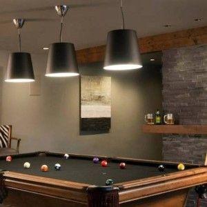 Billiard Room Decor With Black Pool Table Lighting , Cool Billiard Room  Decor In Interior U0026