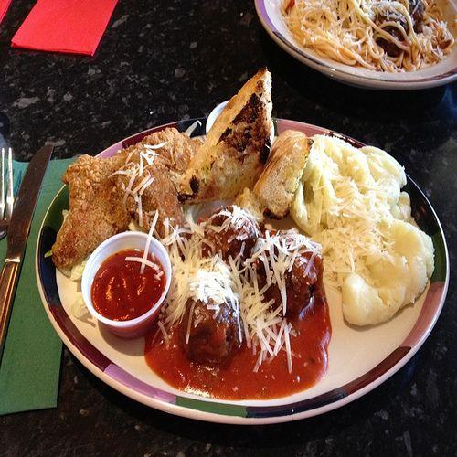 chicken strips cheesy mashed potato frankie bennys healthy