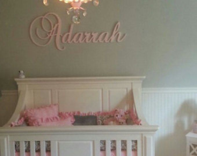 Wall letters Glittered Wooden Sign Woooden Letters for Nursery