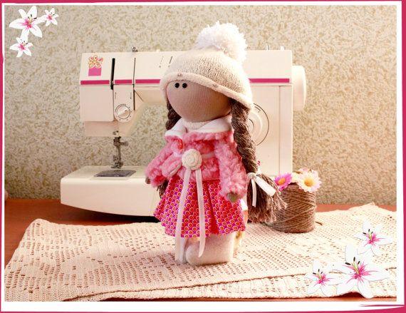 tilde doll rag doll handmade Christmas gift by DollsTalismans