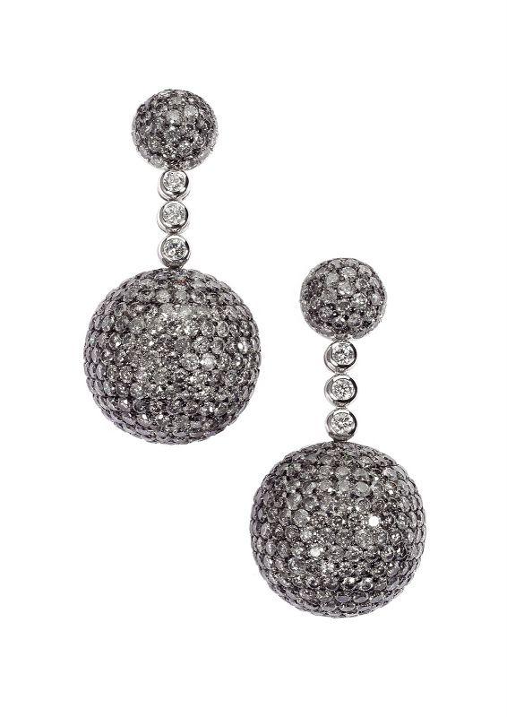 c60496702 Di Grisogono - Grey Boulle Diamond Earrings | Beyond Beautiful ...