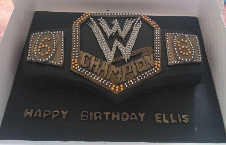 How To Make A Wwe Championship Belt Cake Wwe Cake Wwe