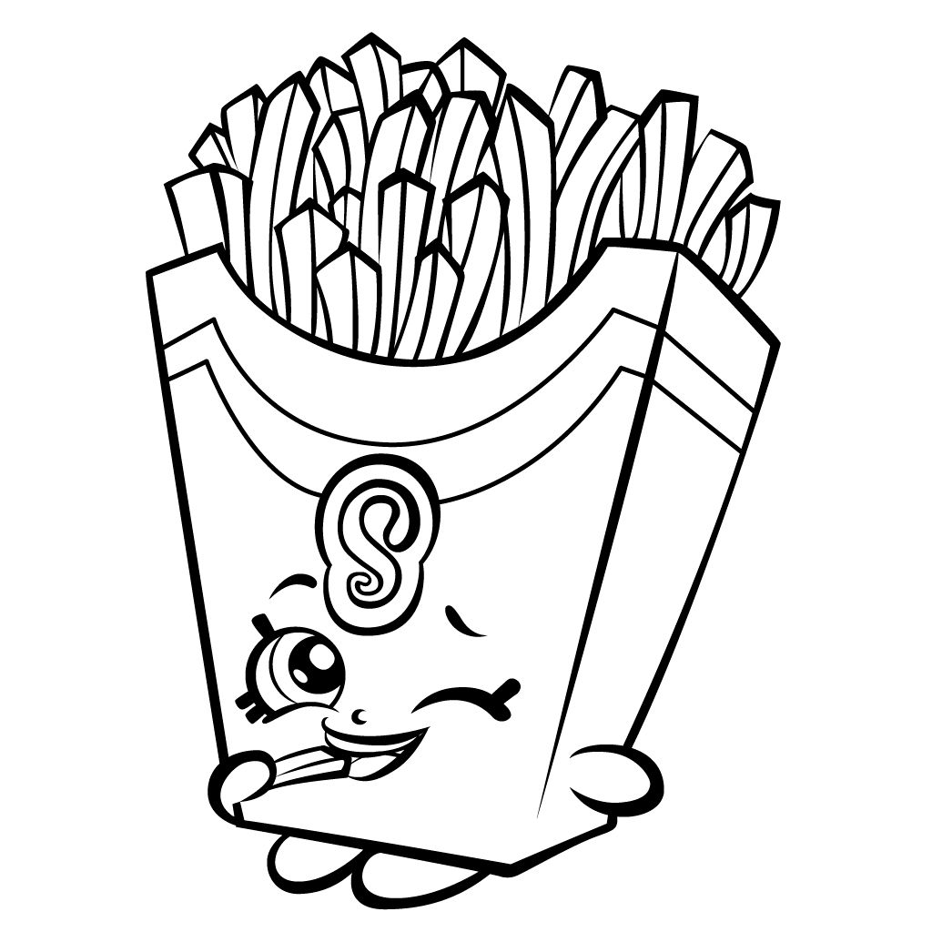 Shopkins Coloring Pages French Fry Free Shopkins Coloring Pages