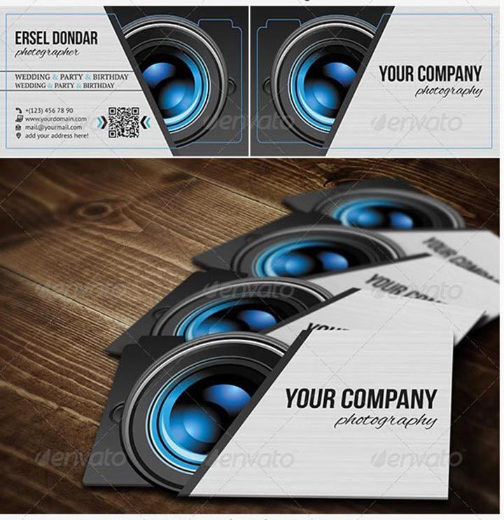 15 Templates De Cartes Visite Photographe A Editer Sur Photoshop