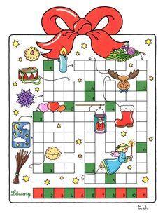 weihnachtsrätsel, kreuzworträtsel, bilderrätsel   weihnachtsrätsel, weihnachtspuzzle