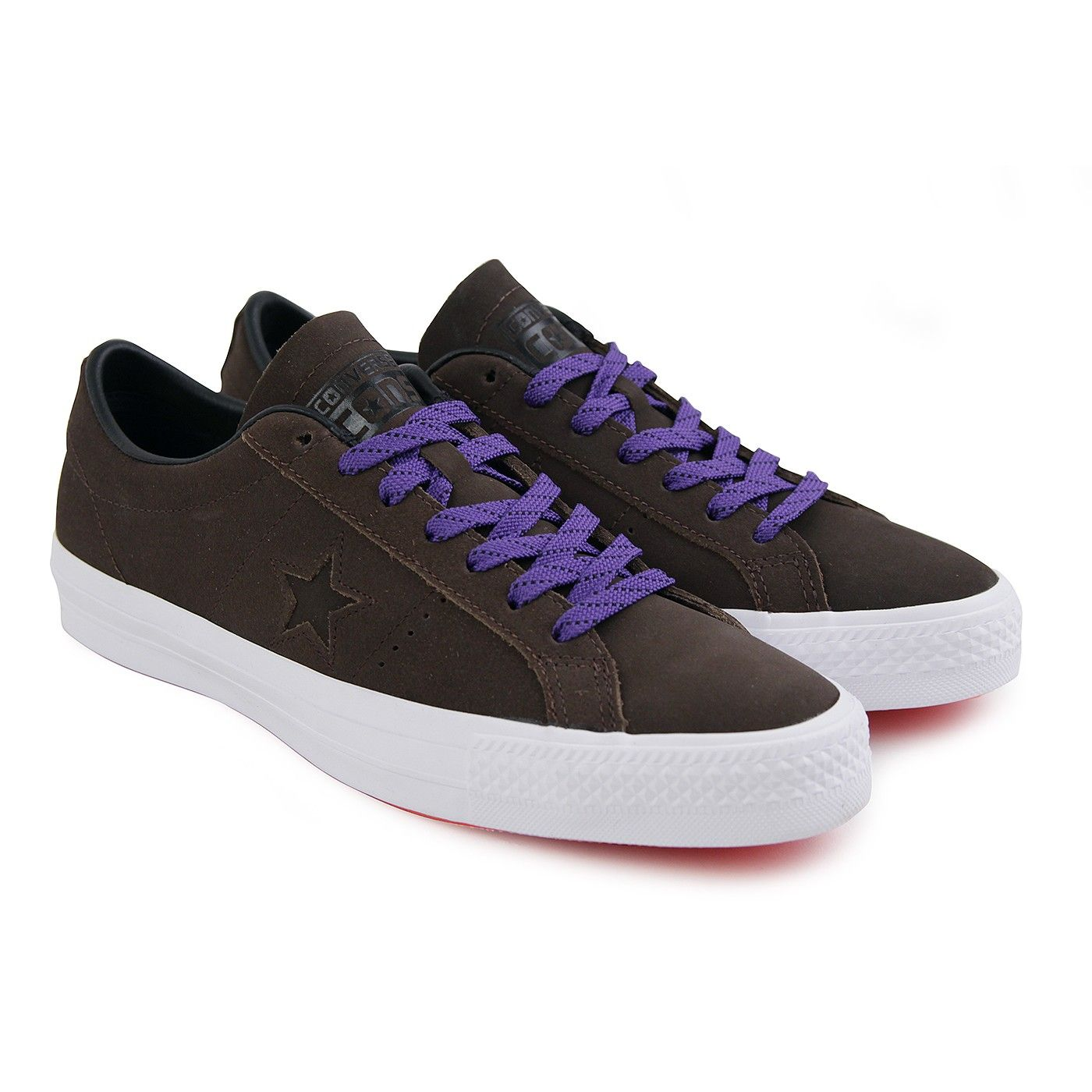 Online Mens Casual Shoes - Converse One Star Pro Leather Hot Cocoa/Black/White