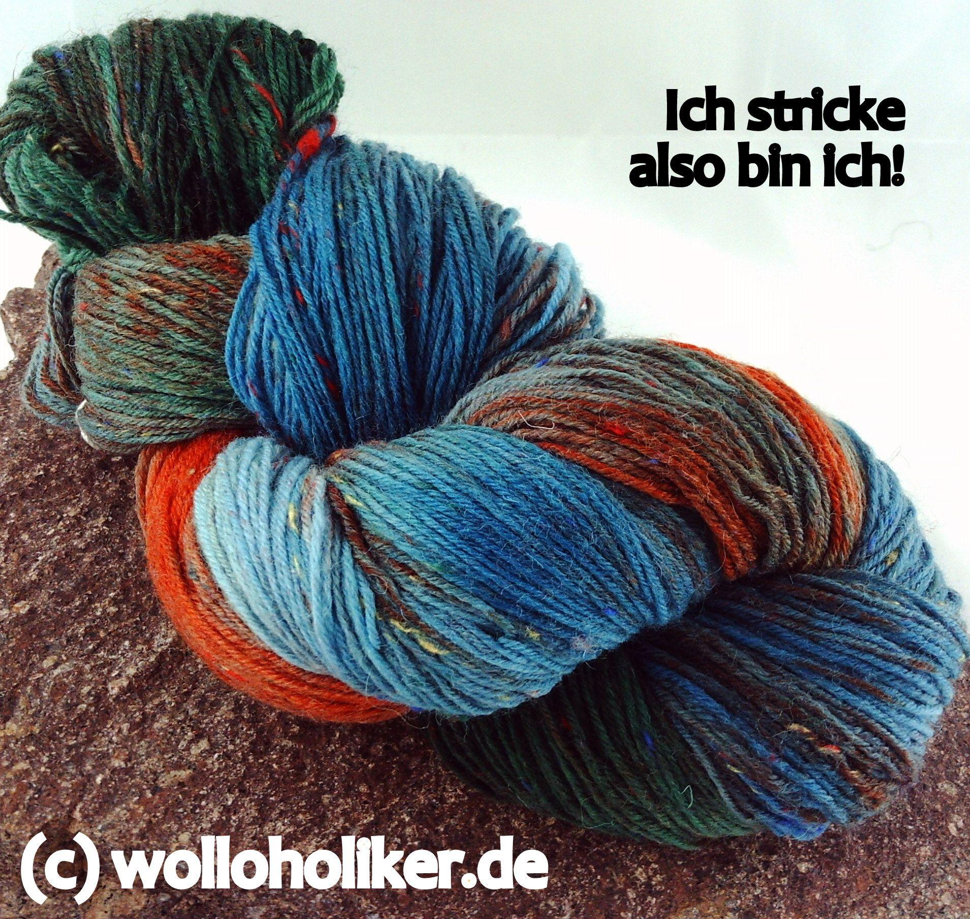 Handgefärbte Sockenwolle von Wolloholiker.de | Stricksplitter ...