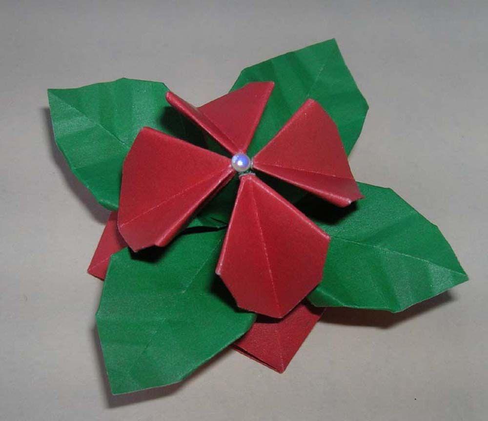 Sam Kwiat W Wersji Plaskiej Zlozony Z Jednej Kartki Papieru Jest To Moj Kolejny Model Autorski I Jego Rozne Zastosowania Origami Flowers Origami Paper Crafts