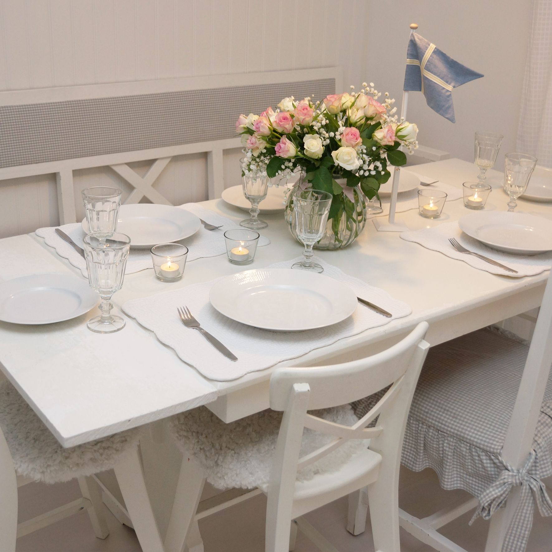 Birthday Table Setting. It's Scandinavian. Happy Birthday