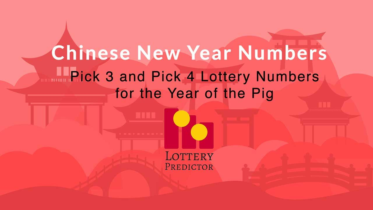 Lottery number predictions for the Chinese lunar year of the pig