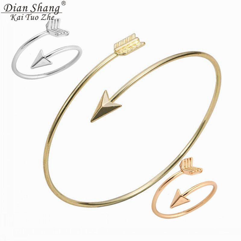 DIANSHANGKAITUOZHE  Gold Jewelry Sets Bridesmaid Gift The Hunger  Games  Rings Arrow Bangle Women