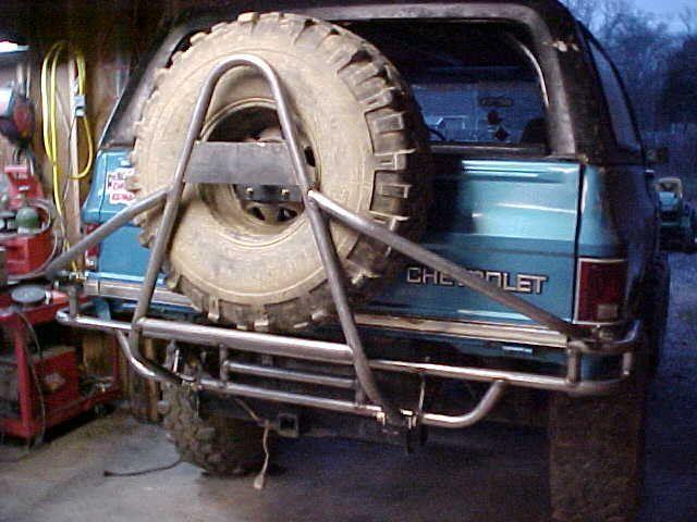 K5 Blazer Rear Tube Bumper Tire Carrier Build K5 Blazer Chevrolet Blazer Chevrolet Trucks