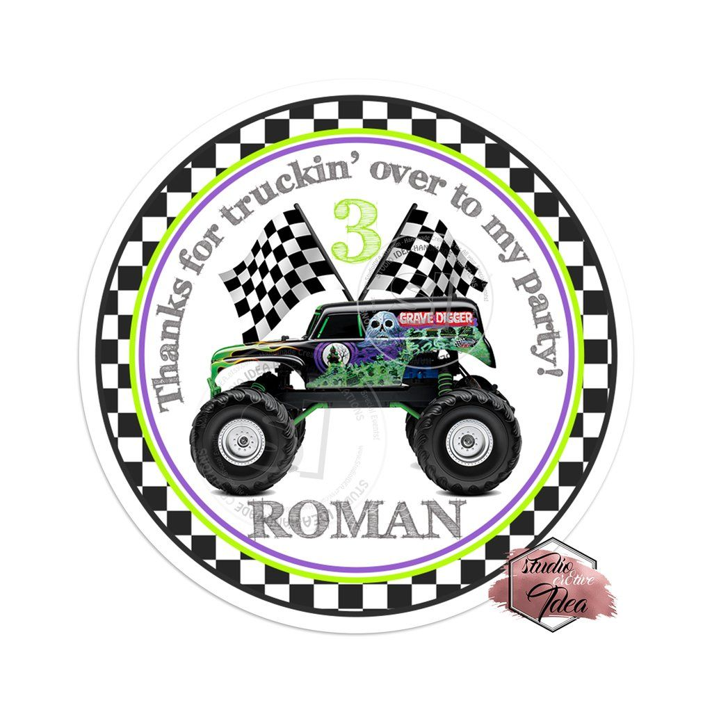 Free Printable Grave Digger Welcome Sign Birthday Buzzin Digger Birthday Parties Monster Jam Birthday Party Digger Birthday