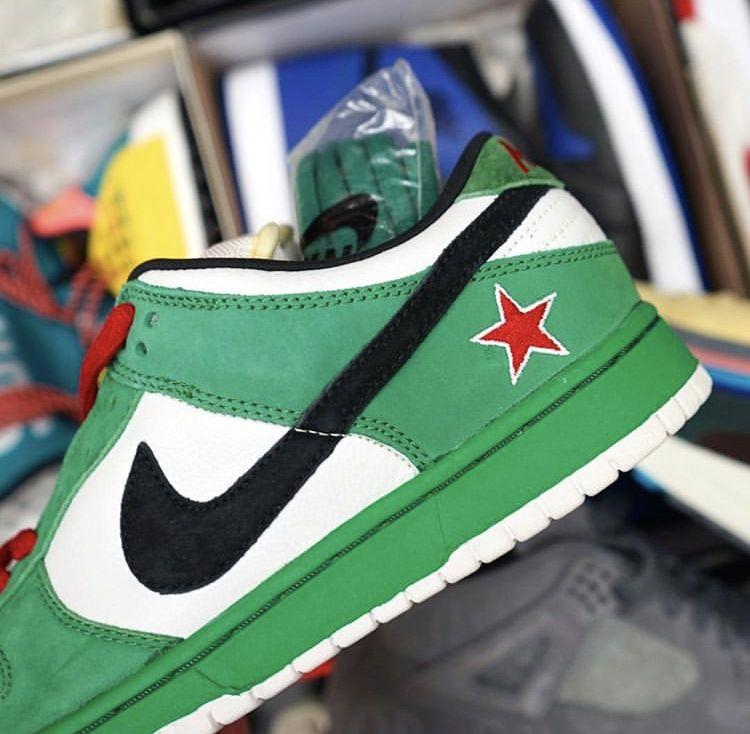 online retailer 04a58 d8991 Heineken dunks | Sneakers in 2019 | Sneakers, Nike sb dunks ...