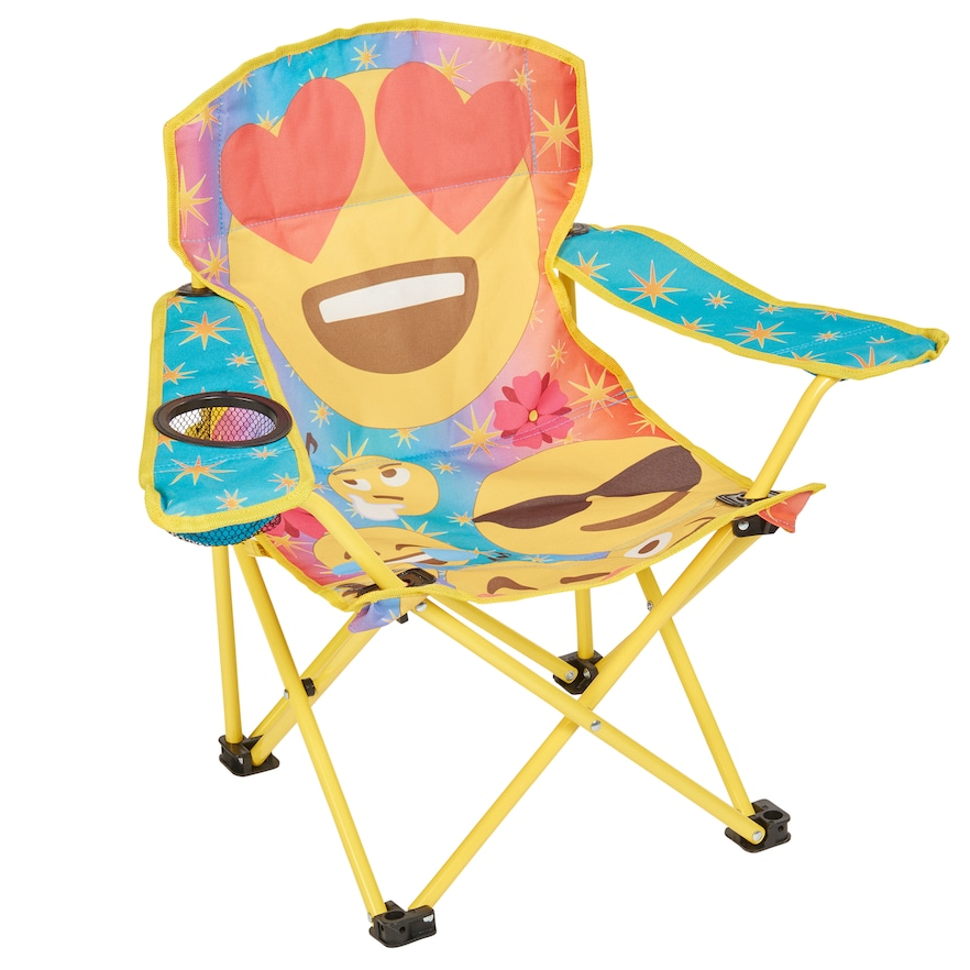Folding Chair Emoji Bedroom Rose Gold Emoticon Kid S Quad By Exxel Outdoors Products Pinterest Multicolor