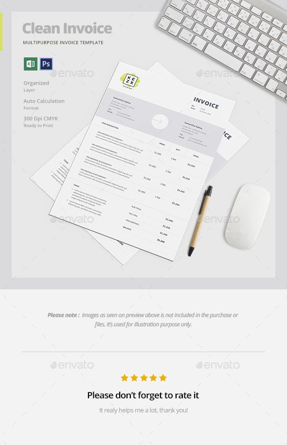 Invoice Invoice Template, Photoshop and Templates - invoice print