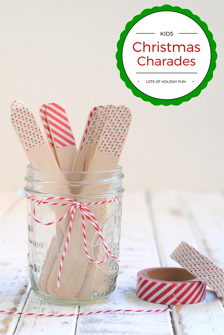 Kids Christmas Charades Game
