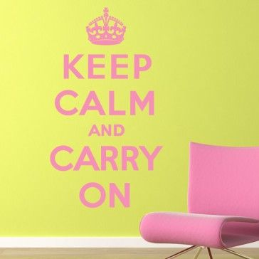 Keep Calm and Carry On Quote Wall Quotes Wall Art Decal - Life ...
