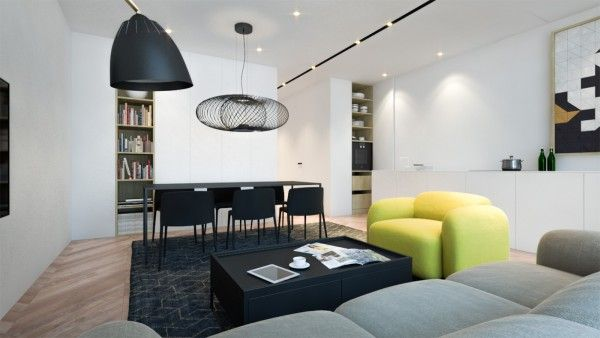 Delightful 3 Creative Interiors That Utilize Bright Accents