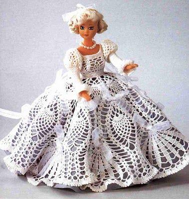 lovely pineapple dress for a Barbie doll   Crochet - free patterns ...