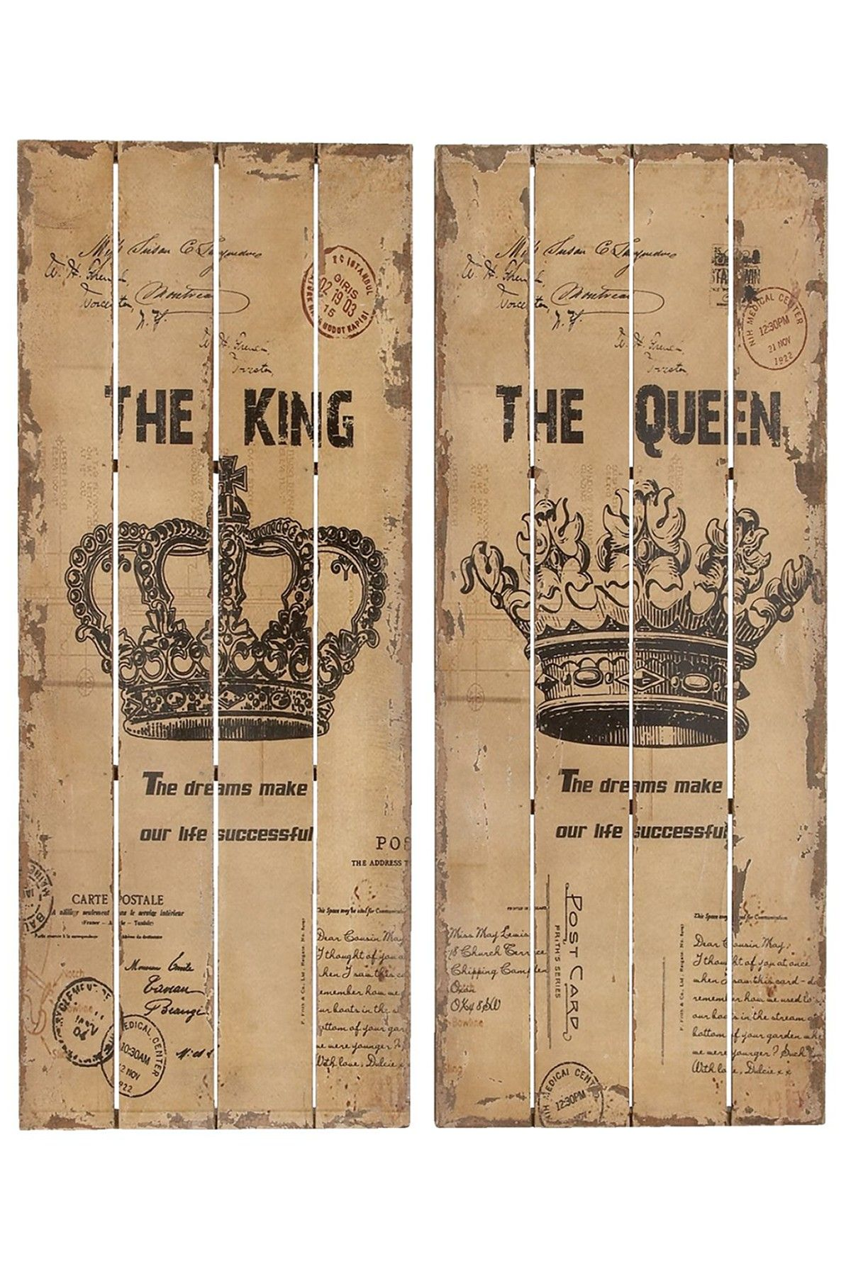 The King Queen Wall Decor Wall Decor Set Wood Wall Decor
