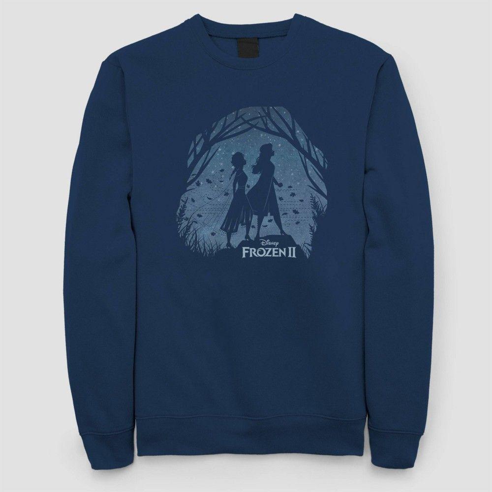 Women S Disney Frozen 2 Crewneck Pullover Sweater Juniors Navy S Sweatshirts Juniors Sweaters Long Sleeve Tshirt Men [ 1000 x 1000 Pixel ]