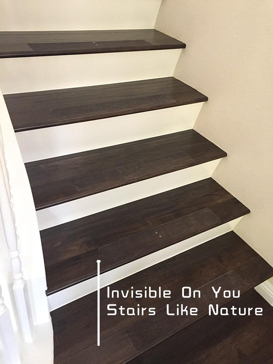 14 Pack 6 X 24 Non Slip Clear Adhesive Stair Treads