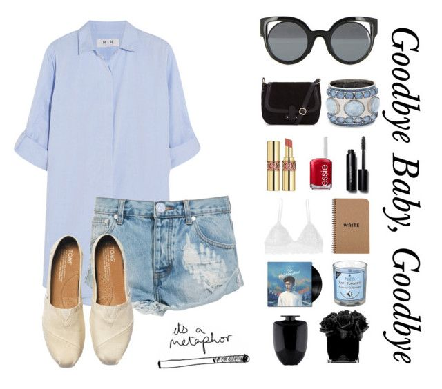 """""""Random Outfit #91"""" by xowallflowerxo ❤ liked on Polyvore featuring M.i.h Jeans, One Teaspoon, TOMS, Fendi, Chico's, Yves Saint Laurent, Essie, Bobbi Brown Cosmetics, Humble Chic and Kosta Boda"""
