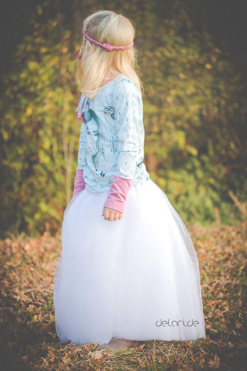 Maxi-Tüllrock nähen für Kinder - Anleitung und Schnittmuster ...