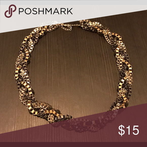 Gold on Black Necklace Gold on Black loose necklace. Like New! It has a bit of silver as well, but mostly gold and black. 🎁 Christmas Season is coming! 🎁 Forever 21 Jewelry Necklaces