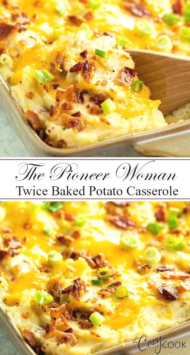 This easy Twice Baked Potato Casserole from The Pioneer Woman is a perfect side dish, eas