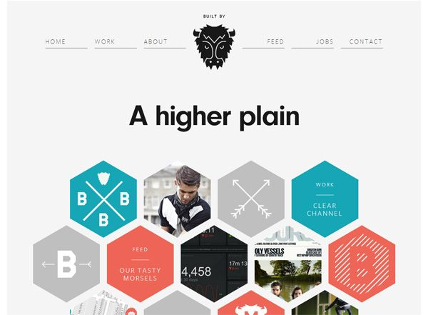 minimalist website design inspiration cool honeycomb element circular stat animation and - Simple Website Design Ideas