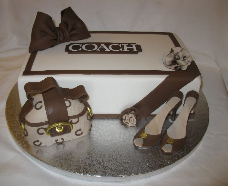 coachpursecake coach bag shoebox high heels shoebox is cake
