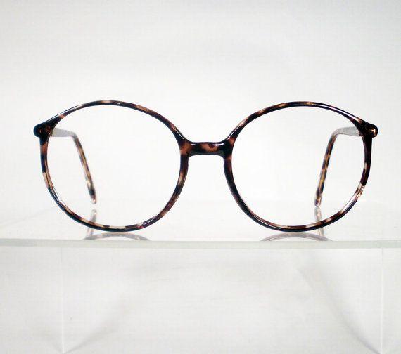 e91fb7aaf16 Vintage Brown Tortoise Round Eyeglass Frames