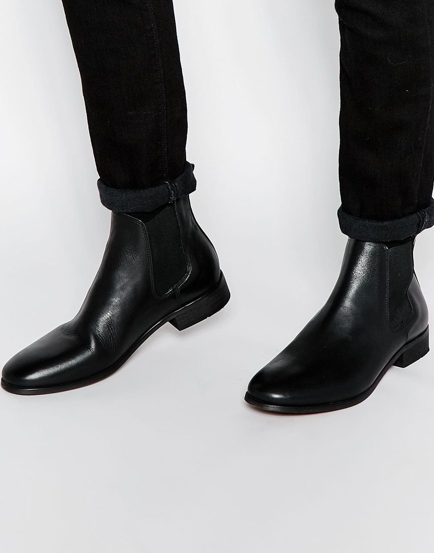 Have a look at this Shoe The Bear Leather Chelsea Boots - Black - http: