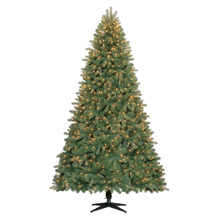 c25 9 ft pre lit trinity fir christmas tree with 1000 clear lights